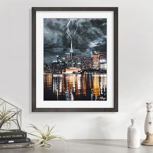 New original art lightning storm CN Tower